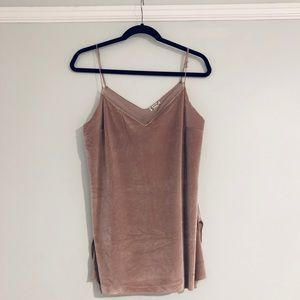 Free People Rose Velvet Camisole